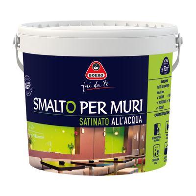 Vernici Smalto Murale Bianco Satinato Boero 2,5 L 35249746