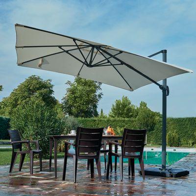 Ombrellone decentrato Hera 3 x 3 m ecru: prezzi e offerte online