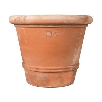 Vaso liscio bordato 100 x 100 cm cotto prezzi e offerte for Vasi in cotto prezzi