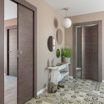 Porta da interno battente Autumn 80 x H 210 cm reversibile: prezzi e ...