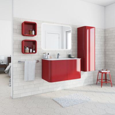 Mobile bagno Liverpool rosso L 94 cm: prezzi e offerte online