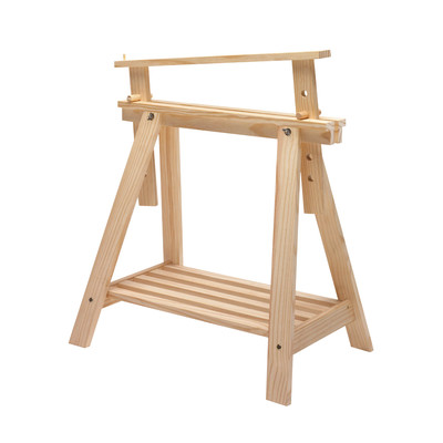 Cavalletto pino archi tec h 70 x p 70 x l 45 cm grezzo for Perline legno leroy merlin