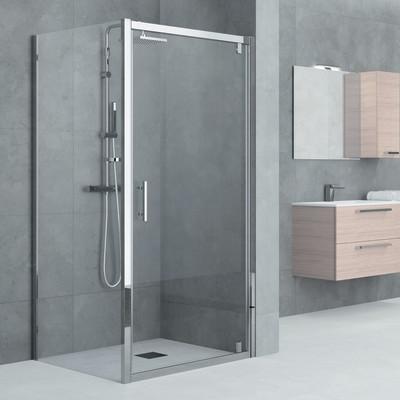 Porta doccia Elyt 1 anta a battente trasparente/cromo 84-90 cm: prezzi e offe...