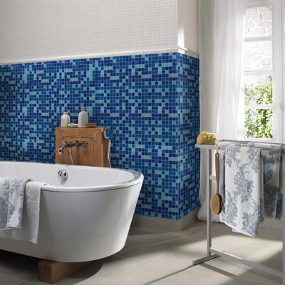 Mosaico classic 30 x 30 blu azzurro prezzi e offerte online - Mosaico azzurro bagno ...