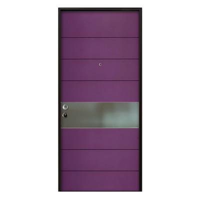 Porta blindata violet arancione l 90 x h 210 cm dx prezzi - Rivestimento porta blindata leroy merlin ...