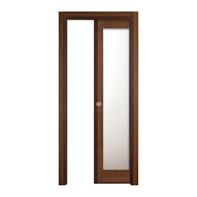 Porta da interno scorrevole vei noce 80 x h 210 cm reversibile prezzi e offerte online - Offerte porte da interno ...