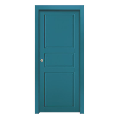 Porta da interno battente new york blue azzurro 60 x h 210 cm dx prezzi e offerte online - Offerte porte da interno ...