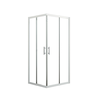 Box doccia elyt 2 ante fisse 2 scorrevoli trasparente bianco 67 70 x 87 90 cm prezzi e - Box doccia ante scorrevoli ...