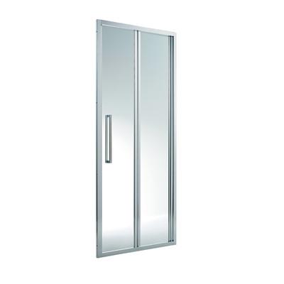 Porta doccia purity pieghevole trasparente silver 67 5 70 for Miscelatore doccia leroy merlin