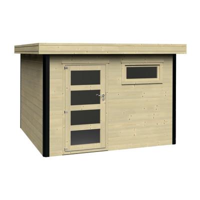 Casetta in legno evan 318 x 326 cm spessore 28 mm prezzi for Casette legno leroy merlin