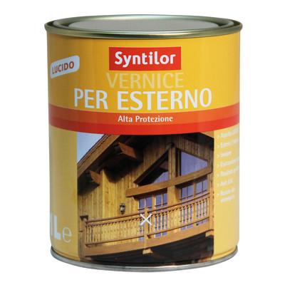 Vernice per esterno ad acqua syntilor noce medio brillante for Vernice sottosopra leroy merlin