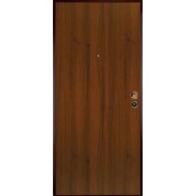 Porta blindata bicolor bianco noce l 80 x h 200 cm dx - Rivestimento porta blindata leroy merlin ...