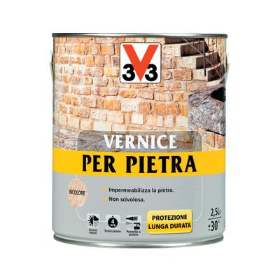 Vernice per pietre v33 trasparente 2 5 l prezzi e offerte for Vernice sottosopra leroy merlin