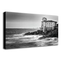 quadro su tela Livorno castello 90x135