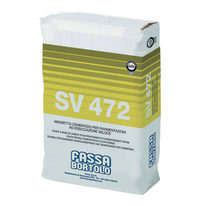 Massetto rapido SV472P Fassa Bortolo 25 kg