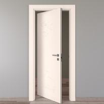 Porta da interno rototraslante Catbird crema 70 x H 210 cm sx