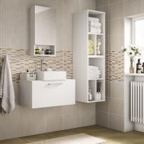 Mobile bagno Easy bianco L 70 cm
