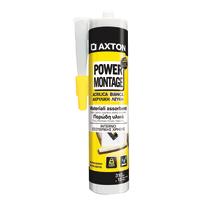 Colla di montaggio e fissaggio effetto chiodo Power Montage Axton bianco