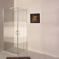 Box doccia scorrevole Lily 79-80,5 x 79-80,5, H 185 cm cristallo 4 mm serigrafato/silver