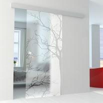 Porta da interno scorrevole Autumn binario Alu 86 x H 215 cm reversibile