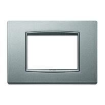 Placca 7 moduli Vimar Eikon Classic argento matt
