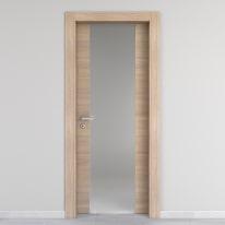 Porta da interno battente Ritz Vetro Rosa del deserto 60 x H 210 cm dx