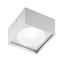 Plafoniera Cube square bianco L 18 x H 8,5 cm