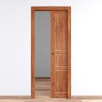 Porta da interno scorrevole Old Town teak sbiancato 70 x H 210 cm reversibile