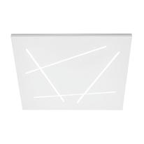 Plafoniera Flat bianco L 60 x H 5,6 cm