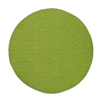 Portabiancheria cuscino componibile tondo microfibra verde