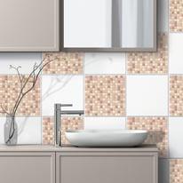 Sticker Tile Mosaico rosa
