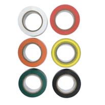 Nastro isolante set 6 pezzi colori assortiti 10  m x 15  mm
