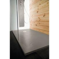 Piatto doccia resina Pizarra 120 x 80 cm cemento