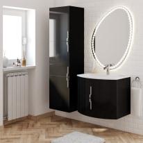 Mobile bagno Sting nero L 69 cm