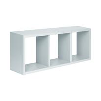 Rettangolo con ripiani Spaceo bianco L 70 x P 15,5, sp 1,8 cm