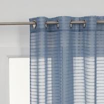 Tenda Righe orizzontali azzurro 140 x 280 cm
