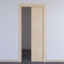 Porta da interno scorrevole Spring rovere chiaro 70 x H 210 cm reversibile