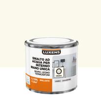 Smalto manounica Luxens all'acqua Bianco Crema 5 brillante 0.125 L