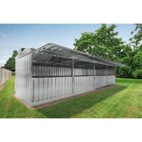 chiosco in metallo Daikiri c/mensole 25,55 m², 4 ribalte