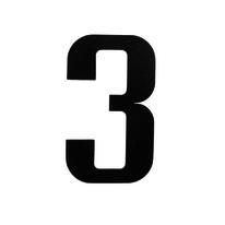 Numero adesivo 3