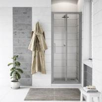 Porta doccia Quad 97.5-100,5, H 190 cm cristallo 6 mm trasparente/silver