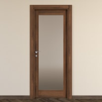 Porta da interno battente Vei noce 70 x H 210 cm dx
