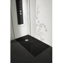 Piatto doccia resina Liso 150 x 80 cm nero