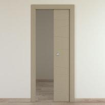 Porta da interno scorrevole Wind taupe tortora 80 x H 210 cm reversibile