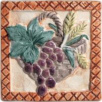 Piastrella con decoro Perù rosso 10 x 10 cm