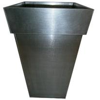 Vaso Quadro Alto 42 x 42 cm titanio