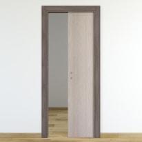 Porta da interno scorrevole One frassino/brown 60 x H 210 cm reversibile