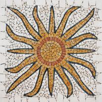 Rosone multicolor 66 x 66 cm