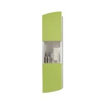 Pensile Soft verde 2 ante, vano a giorno L 24 x H 100 x P 18 cm