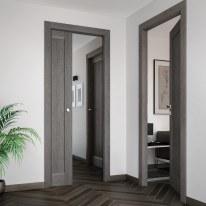 Porta da interno battente Zaniah tabacco 80 x H 210 cm dx